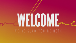 Clean & Modern 'Welcome' Loop