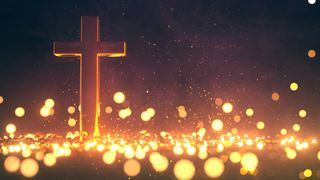 Glowing Cross Background