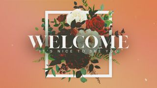 Floral Welcome Motion Slide