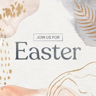 Easter Invite Abstract Shapes