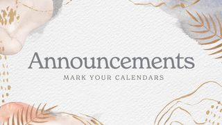 Announcements Easter