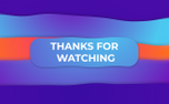 Thanks For Watching Gradient (96483)