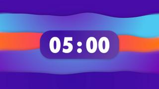 Gradient 5 MIN Countdown