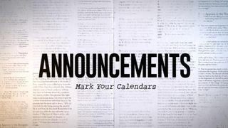 Announcements Newspaper