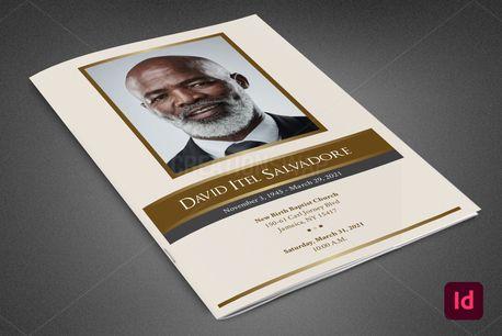 Golden Life Funeral Program (96857)