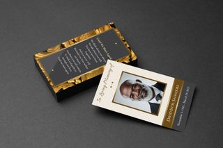 Golden Life Funeral Card