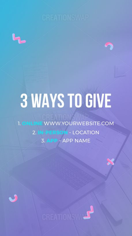 3 Ways to Give (96980)