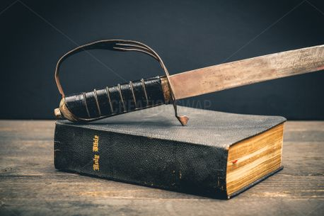 Holy Bible and Sword (97401)
