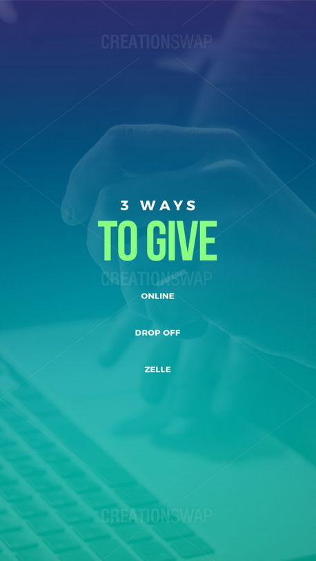 3 Ways To Give (97468)