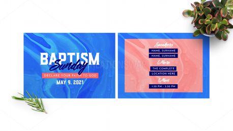 Baptism Announcement Postcard (97604)