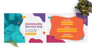 Community Service Day Postcard