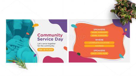 Community Service Day Postcard (97794)