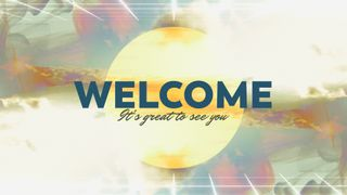 Abstract Welcome Slide