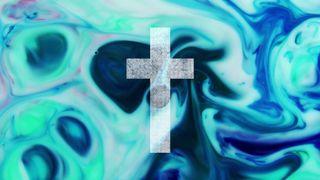 Colorful Ink Cross-Blue