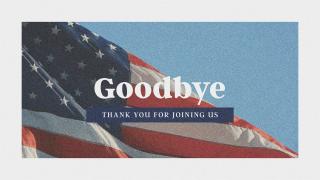 Patriotic Goodbye