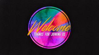 Glitch Welcome Slide