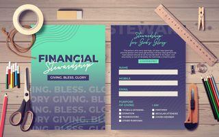 Financial Stewardship Postcard