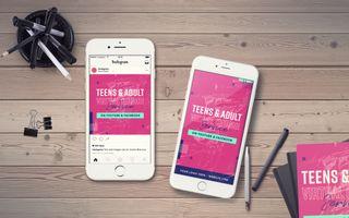 Teens Virtual Service IG Story