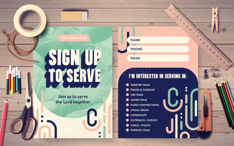 Sign up to Serve Postcard (98488)