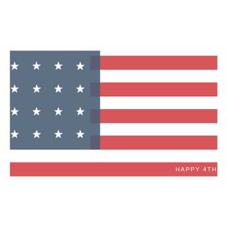Fourth of July Flag