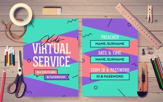 Kids Virtual Service Postcard