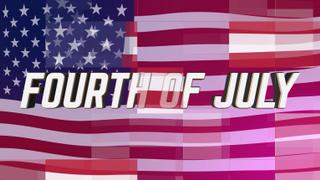 Digital Flag Fourth of July