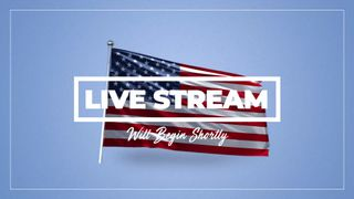 Live Stream 4th of July Flag