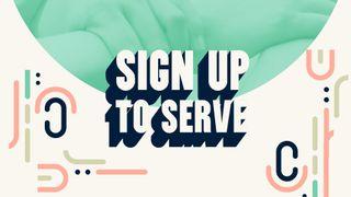 Sign up to Serve Slide