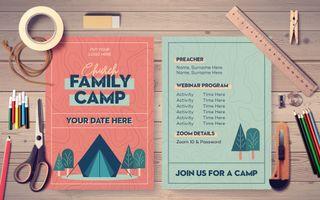 Church Family Camp Postcard