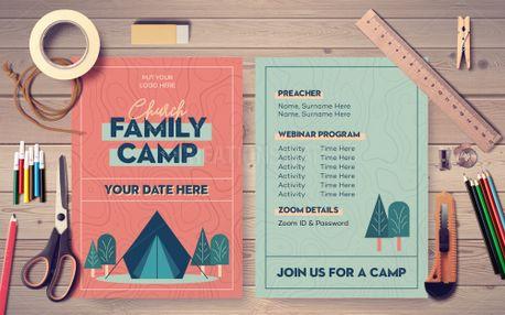 Church Family Camp Postcard (99006)