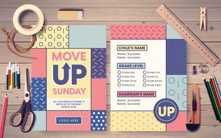 Move Up Sunday Postcard
