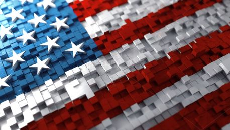 American Flag and cubes (99091)