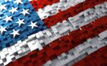 American Flag and cubes (99149)