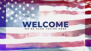 Patriotic Welcome Slide
