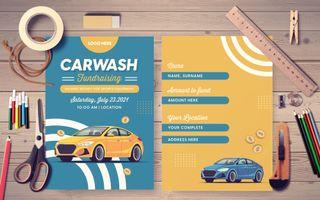 Carwash Fundraising Postcard
