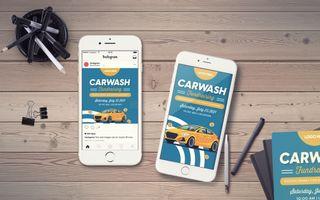 Carwash Fundraising IG Story