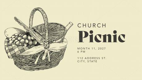 Church Picnic Hand Drawn (99443)