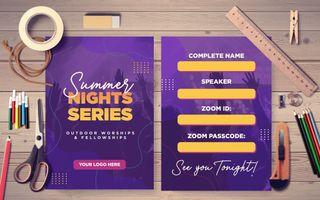 Summer Night Series Postcard