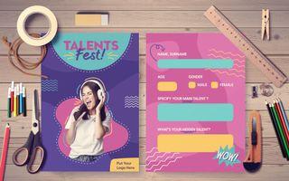 Talent Fest Postcard