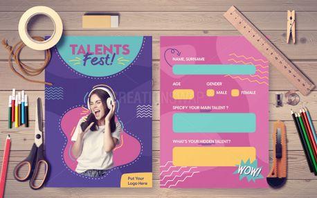Talent Fest Postcard (99690)