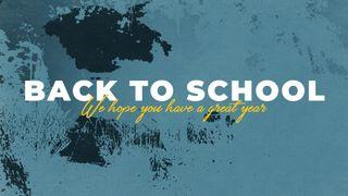 Blue Back to School Slide